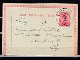 Kaartbrief Van Seraing 1C Naar Liege - 1915-1920 Albert I