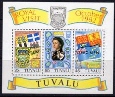 Tuvalu 1982 Royal Visit Flags MS, Optd. SPECIMEN, MNH, SG 199 (BP2) - Tuvalu