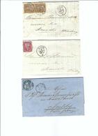SUISSE 1865-70: 3 Enveloppes  De Nyon (2x) Et De Zofingen Pour Semsales - Lettres & Documents