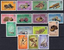 Tuvalu 1983-4 Handicrafts Definitives Set Of 16 (except Later 15c Value), MNH, SG 200/212 (BP2) - Tuvalu