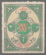 Freemason Mason Freemasonry - 1943 Hungary -  Label / Vignette / Cinderella - MNH - Freemasonry