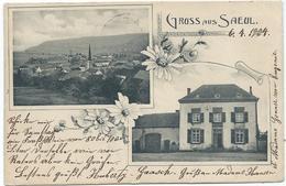 Saeul – Panorama U. Handlung & Wirt, Huberty-Gaasch (ca. 1904) - Ansichtskarten