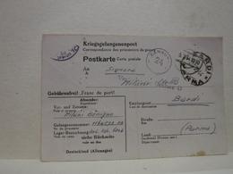 BARDI  -- PARMA   ---CORRISPONDENZA DI PRIGIONIERO ALLA FAMIGLIA --  GERMANIA - Italia