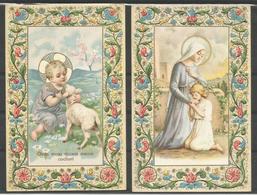 2 Vintage. Carte Postale. Holy Card /Heilig Prentje. - Images Religieuses