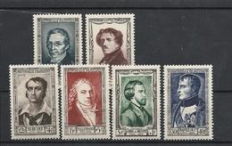 Timbres Neufs ** - Personnages Célèbres De 1951 - Yvert 891/896 - Cote 60 € - Napoléon,Musset, Surcouf, Delacroix.... - France