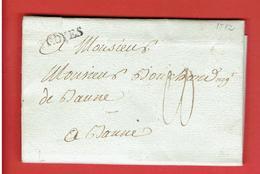 LETTRE COMMERCIALE OCTOBRE 1782 DE M. JACQUET DE TROYES AUBE POUR M. BOUCHARD NEGOCIANT A BEAUNE COTE D OR - ... - 1799
