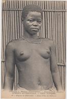Cote D'ivoire Région De Bouake Jeune Fille De Sakasso Seins Nue - Costa D'Avorio