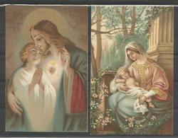 2 Vintage. Carte Postale. Holy Card /Heilig Prentjes - Images Religieuses