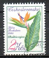 TCHECOSLOVAQUIE. N°2402 Oblitéré De 1980. Strelitzia Reginae. - Pflanzen Und Botanik