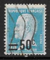 Maury 219 - 50 C / 75 C Pasteur  - O - 1922-26 Pasteur