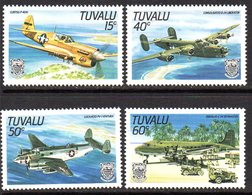 Tuvalu 1985 World War II Aircraft Set Of 4, MNH, SG 329/32 (BP2) - Tuvalu