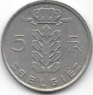 BELGIË 1980 - 5 Francs - 1951-1993: Baudouin I