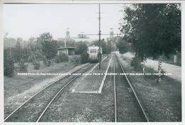 EISDEN Photo De Réproduction D'après Le Négatif Original TRAM & TRAMWAY / ARRET DES MINES 1953 / PHOTO BAZIN - Maasmechelen