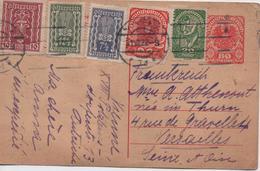 AUTRICHE  CARTE AFFRANCHIES DE NOMBREUX TIMBRES  CACHET 1922 - 1918-1945 1st Republic