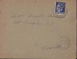 Guerre 39 45 Retirada Réfugié Espagnol Guerre Espagne CAD 24 2 41 St Génis Des Fontaines 66 Pr Camp Rivesaltes - Marcofilie (Brieven)