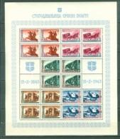 Serbie  Occup  Allemande Bloc Feuillet  De 20 Timbres  Michel 94/98  * *  TB - Occupation 1938-45