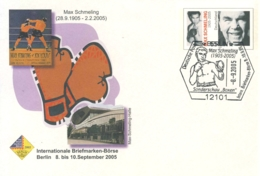 951  Max Schmeling: PAP Avec Oblitération Temp. 2005 - Box World Champion Stationery Cover. Boxe - Boxen