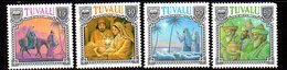 Tuvalu 1990 Christmas Set Of 4, MNH, SG 593/6 (BP2) - Tuvalu