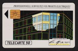 Télécarte D 330 50 Unités Gem Le Mat Electrique 2 Scans - France