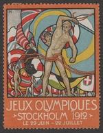 Stockholm 1912 Summer Olympics Olympic Games FLAG Flags LABEL CINDERELLA VIGNETTE - FRANCE - Sommer 1912: Stockholm