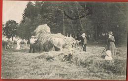 CPA 07- SAINT-AGREVE - La Fenaison - Animée - Voyagée 1908-scannée  Recto Verso- Paypal Sans Frais - Saint Agrève