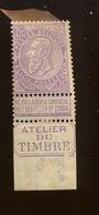 """2F * Sur Lilas  """"Atelier Du Timbre"""" Mais Le Bord Est Aminci. Cote + 90,-euros - 1893-1900 Thin Beard"""