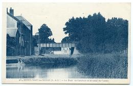 71 : MONTCEAU LES MINES - LE PONT DE L'ABATTOIR ET LE CANAL DU CENTRE - Montceau Les Mines