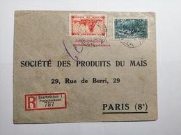 Saar Briefumschlag Saarbrucken Bis Paris - Lettres & Documents