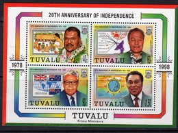 Tuvalu 1998 20th Anniversary Of Independence MS, MNH, SG 821 (BP2) - Tuvalu