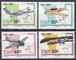 Südwestafrika SWA Namibia 1989 Transport Luftfahrt Aviation Flugzeuge Aeroplanes Beechcraft Junkers, Mi. 637-0 ** - África Del Sudoeste (1923-1990)