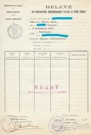 TIMBRES FISCAUX DE MONACO 1957  TIMBRE BLASON 100Frs - Fiscale Zegels