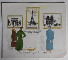 Carte Les Monuments De Paris En Taille Douce Exposition De Décembre à Janvier Arc De Triomphe Notre Dame Tour Eiffel - Briefmarken (Abbildungen)