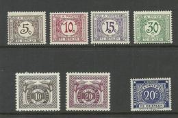 BELGIEN Belgium 1923-1957 Lot Portomarken Postage Due * - Congo Belge