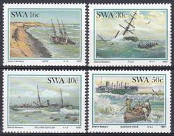 Südwestafrika SWA Namibia 1987 Transport Seefahrt Shipping Schiffe Ships Schiffwracks Wracks, Mi. 613-6 ** - África Del Sudoeste (1923-1990)