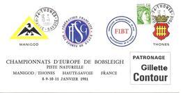 1981 Championnats D'Europe De Bobsleigh à Manigod - Hiver