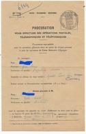 TIMBRES FISCAUX DE MONACO 1954  TIMBRE BLASON  30F00 SERIE UNIFIEE N°15 100F BLEU AU VERSO - Fiscale Zegels