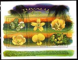 Tuvalu 1999 Flowers, 2 X Sheetlets Of 6, MNH, SG 851/62 (BP2) - Tuvalu