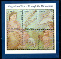 Tuvalu 1999 Millenium, Allegories Of Peace, 2 X Sheetlets, MNH, SG 864/70 (BP2) - Tuvalu