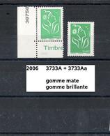 Variété De 2006  Neuf** Y&T N° 3733 A+Aa Gomme Brillante & Gomme Mate - Variedades: 2000-09 Nuevos