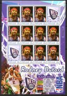 Tuvalu 2006 Basketball NBA Players New Jersey Nets Sheetlet, MNH, SG 1194a (BP2) - Tuvalu