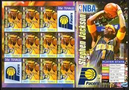 Tuvalu 2006 Basketball NBA Players Detroit Pistons Sheetlet, MNH, SG 1196a (BP2) - Tuvalu