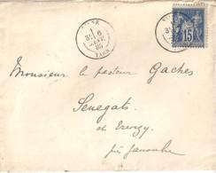 81 - TARN - VIANE  TAD DE TYPE 18 / 1885 - Marcophilie (Lettres)