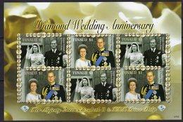 Tuvalu 2006 Royal Diamond Wedding Anniversary Sheetlet, MNH, SG 1240a (BP2) - Tuvalu