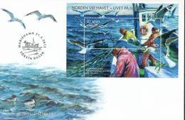 2012  Aland Mi  Bl 12  FDC    NORDEN - Leben Am Meer - Aland