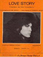 PARTITION LOVE STORY DE FRANCIS LAI / DESAGE PAR MIREILLE MATHIEU - 1970 - BON ETAT - - Music & Instruments