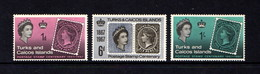 TURKS  AND  CAICOS  ISLANDS    1967    Stamp  Centenary    Set  Of  3    MH - Turks And Caicos