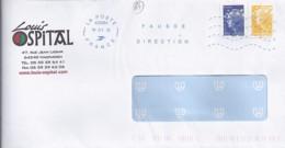 """64 - PYRENEES ATLANTIQUE - OBL. NEOPOST NSC """"LA POSTE 42206A/2012"""" FD (NON REPERTORIEE)  (MOUGERRE) - Marcophilie (Lettres)"""
