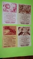 Image Récompense D'école - FABLE DE LA FONTAINE - RARE  Lot De 4 Images - PUB Collecteur Chocolat MENIER / 154 - Autres
