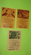 Image Récompense D'école - FABLE DE LA FONTAINE - RARE  Lot De 3 Images - PUB Collecteur Chocolat MENIER / 155 - Autres