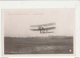 GRAND PRIX D AVIATION 13 JANVIER 1908 L AEROPLANE FARMAN CPA BON ETAT - ....-1914: Précurseurs